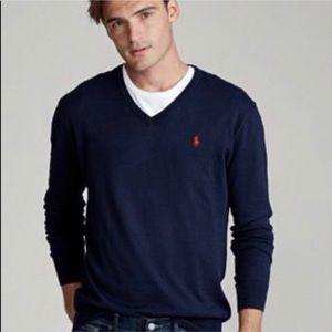 Polo Ralph Lauren 100% lambswool sweater navy